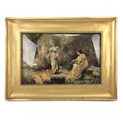 Sale 8545N - Lot 268 - Early C20th Reverse Painting on Glass by M.C. Parr (27cm x 18cm)
