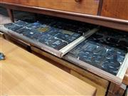 Sale 8741 - Lot 1028 - Collection of Vintage Timber Printers Blocks in 3 Trays