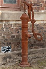 Sale 8871H - Lot 21 - A large cast iron water pump with midriff spout, height 133cm