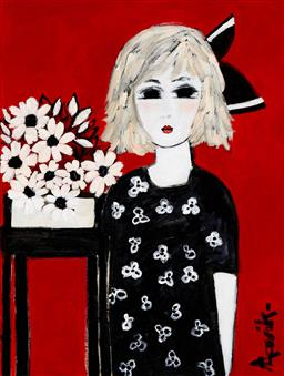 Sale 9150A - Lot 5039 - LEENE AAVIK My Favourite Outfit acrylic on canvas 101 x 76 cm signed lower right, titled verso