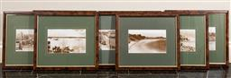 Sale 9165H - Lot 60 - A set of eight historical photographic prints to include 4 x Watsons Bay, 2x Rose Bay, 1x Tamarama and 1x Neilson ParkFrame size 37x...
