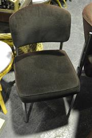 Sale 8058 - Lot 1085 - Set Of Six Chrome Dining Chairs In Brown Upholstery