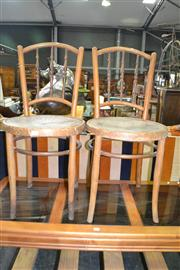 Sale 8093 - Lot 1183 - Pair of Pressed Seats Chairs