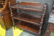 Sale 8255 - Lot 1090 - Mid 19th Century Mahogany Dumbwaiter, of three tiers, on turned supports with finials