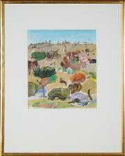 Sale 8506 - Lot 2026 - Ian Holt - Landscape 26 x 22.5cm