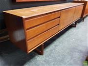 Sale 8585 - Lot 1001 - Superb Quality White & Newton Teak Sideboard
