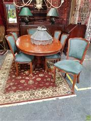 Sale 8566 - Lot 1346 - Single Pedestal Extension Table with 6 Chairs