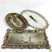 Sale 8648A - Lot 178 - Collection of Silver Wares inc Trays (Possibly Austro-Hungarian)