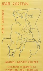 Sale 8658A - Lot 5024 - Jean Cocteau (1889 - 1963) - Poesie Graphique (Jacques Damase Gallery), 15 November - 15 December 1973 70.5 x 33cm