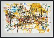 Sale 8863H - Lot 70 - JOHN OLSEN (1928 -) - People who live on Victoria street 54 x 82cm