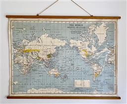 Sale 9142A - Lot 5055 - Vintage Map of the World, made in Australia, 76 x 114 cm