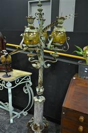 Sale 8031 - Lot 1006 - Vintage Cast Iron Lamp Post