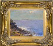 Sale 8349 - Lot 592 - Rubery Bennett (1893 - 1987) - Calm and quiet, Bay view, Balmoral 29.5 x 37cm