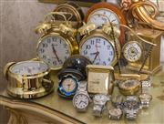 Sale 8375A - Lot 106 - A large quantity of clocks and watches