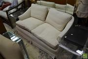 Sale 8515 - Lot 1090 - Cream Upholstered Two Seater Sofa