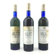 Sale 8611W - Lot 72 - 3x 1996 Vicomte Bernard de Romanet Chateau Bouron Sauvignon Blanc, Bordeaux Sec - damaged labels