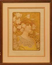 Sale 8658A - Lot 5022 - Paul Berthon (1872 - 1909) - Sarah Bernhardt 50.5 x 36cm