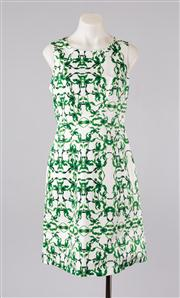 Sale 8740F - Lot 85 - A David Lawrence structured a-line printed sleeveless dress, size 10