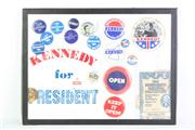 Sale 8818 - Lot 12 - Cased Kennedy Election Ephemera