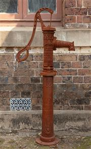 Sale 8871H - Lot 22 - A large cast iron water pump with high spout, height 130cm