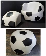 Sale 8971 - Lot 1088 - Childs Soccer Ball Chair with Footstool (D:45cm) Together with a Ottoman