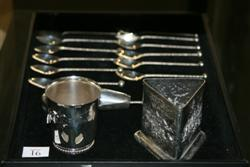 Sale 7917 - Lot 91 - Dutch Silver Set of 12 Teaspoons & Other Similar Wares