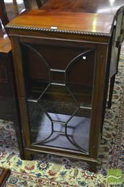 Sale 8317 - Lot 1071 - Small Georgian Style Mahogany Bookcase, with astragal door & bracket feet
