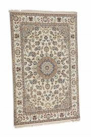 Sale 8539C - Lot 99 - Indo Persian Nain Silk & Inlaid 122cm x 192cm