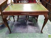 Sale 8559 - Lot 1072 - Quality Brass Mounted Writing Desk with Leather Top on Cab Legs