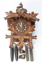 Sale 8670 - Lot 217 - Large Cased Cuckoo Clock