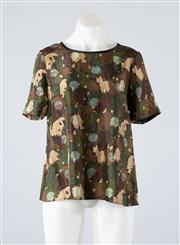 Sale 8685F - Lot 55 - A Marc by Marc Jacobs silk top of abstract camoflauge print, size 6