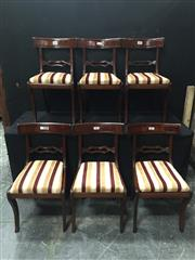 Sale 9063 - Lot 1074 - Set of 6 Mahogany Dining Chairs (H84 x W45 x D50cm)