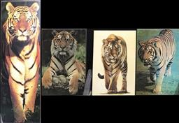Sale 9106 - Lot 2471 - Collection of 4 Tiger prints mounted on board (various sizes) -