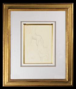 Sale 7923 - Lot 567 - William Dobell - Dog Study c. 1940