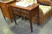 Sale 7987A - Lot 1118 - Mahogany Side Table w 3 Drawers