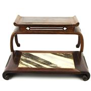 Sale 8162 - Lot 79 - Rosewood Marble Stand with Another Rosewood Stand