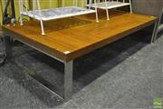 Sale 8368 - Lot 1037 - Modern Coffee Table with Chrome Legs