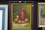Sale 8464 - Lot 2011 - Artist Unknown, Still Life, oil, signed, 39x29cm