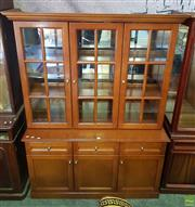 Sale 8566 - Lot 1401 - Reproduction Sideboard with Bookcase Top (186 x 45 x 137)