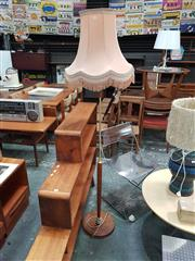 Sale 8872 - Lot 1088 - 1960s Teak Base Floor Lamp with Shade
