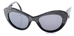 Sale 9186 - Lot 340 - A PAIR OF VINTAGE MISSONI SUNGLASSES; black cat eye shape frame set with crystals, no: 140 M 900 S 807.