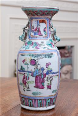Sale 9190H - Lot 169 - A Cantonese vase decorated with figures, Height 25cm