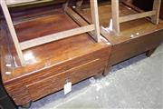 Sale 8129 - Lot 1093 - Pair of Rustic Square Form Side Tables