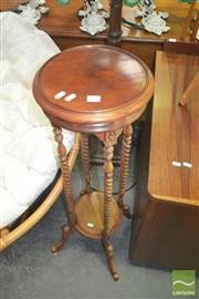 Sale 8272 - Lot 1087 - Timber Jardiniere Stand with Barley Twist Supports