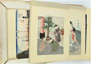 Sale 8304A - Lot 26 - Folder of Ukiyoe Prints