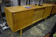 Sale 8550 - Lot 1003 - 1960s Beech Sideboard