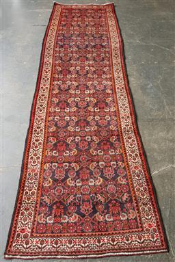 Sale 9151 - Lot 1415 - Handknotted pure wool Persian suruk runner ( 400 x 110cm)