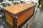 Sale 8093 - Lot 1088 - Timber Lift Lid Trunk