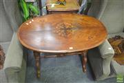 Sale 8272 - Lot 1027 - Victorian Inlaid Walnut Occasional Table