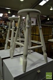 Sale 8499 - Lot 1605 - Pair of Timber Stools